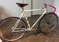 1976 Peugeot UO-8, fixed gear conversion