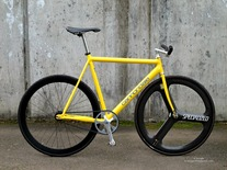 1993 Cannondale Track, Yellow (sold)