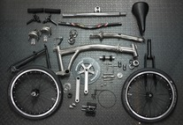 Custom Brompton by Ti Parts Workshop photo