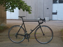 Stealth black road bike photo