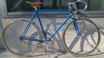 Vintage Chrome Metallic Blue Singlespeed photo