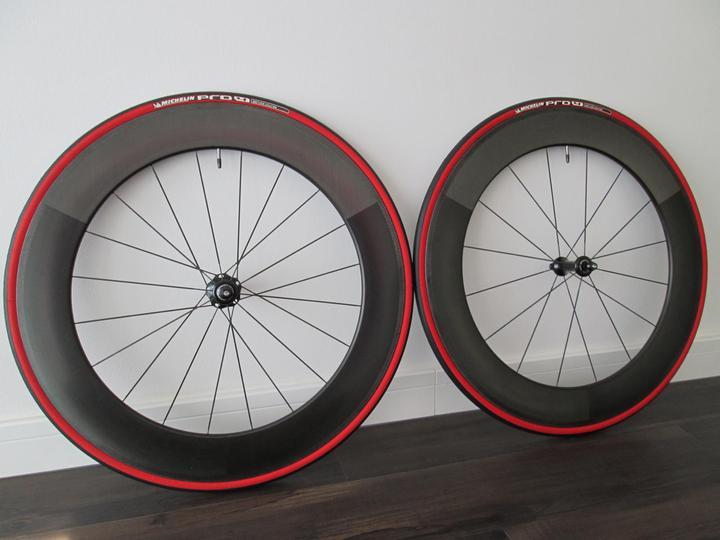Fs Like New Oval Concepts 980 Carbon Clincher Wheel Set