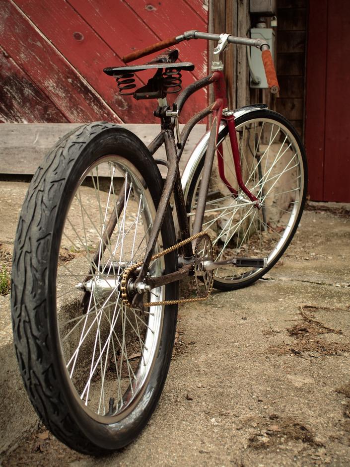 1936 63 Rollfast Rat Rod Dapper Velo Pedal Room
