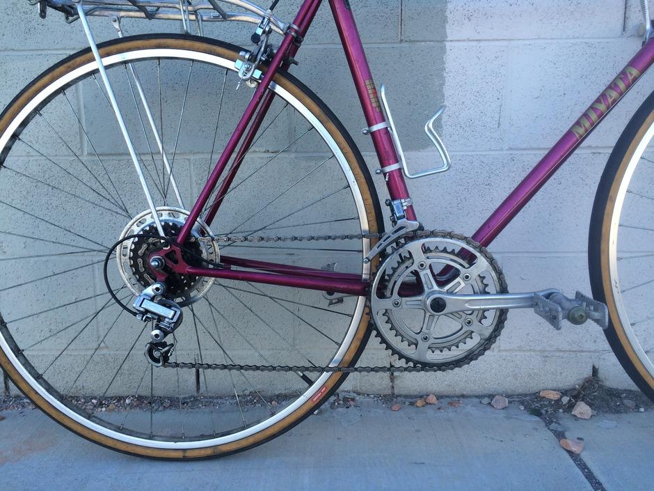 1981 Miyata 310 - Pedal Room