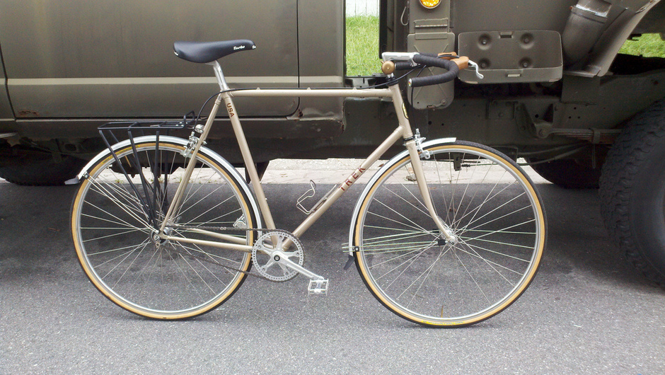 1985 Trek 420 Single Speed Conversion Pedal Room