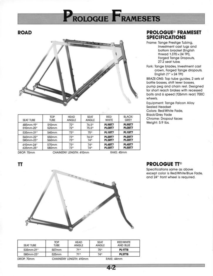 1988 Schwinn Prologue - Pedal Room