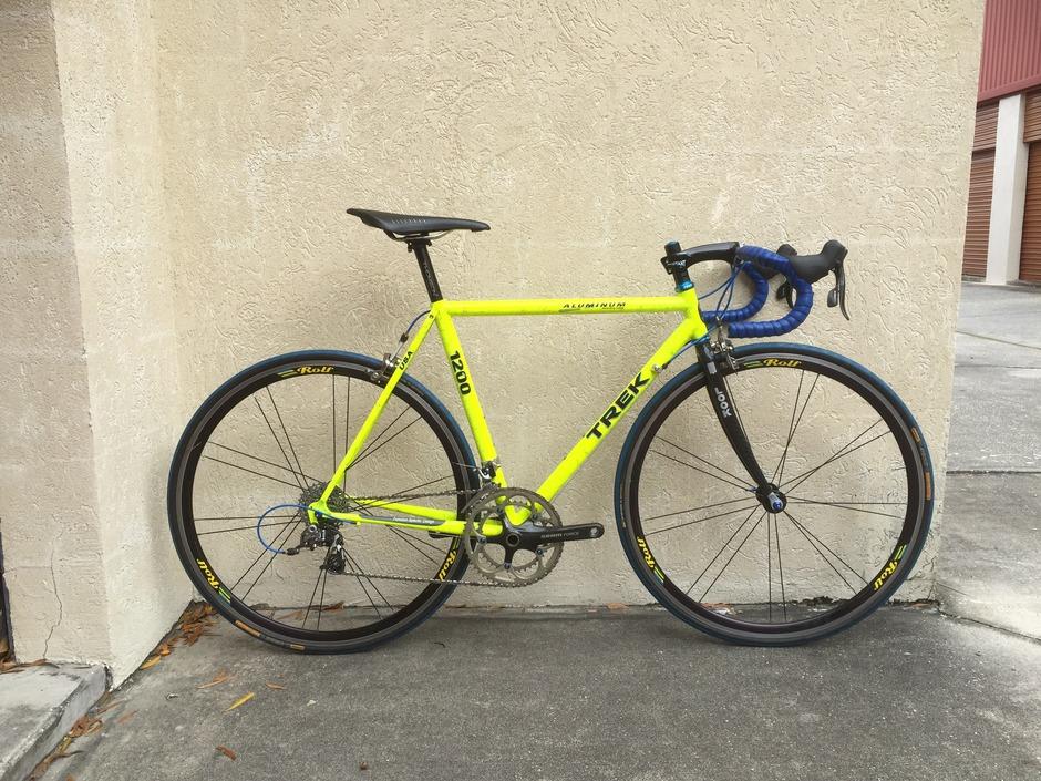 1991 Trek 90 S Lime Green Splatter Pedal Room