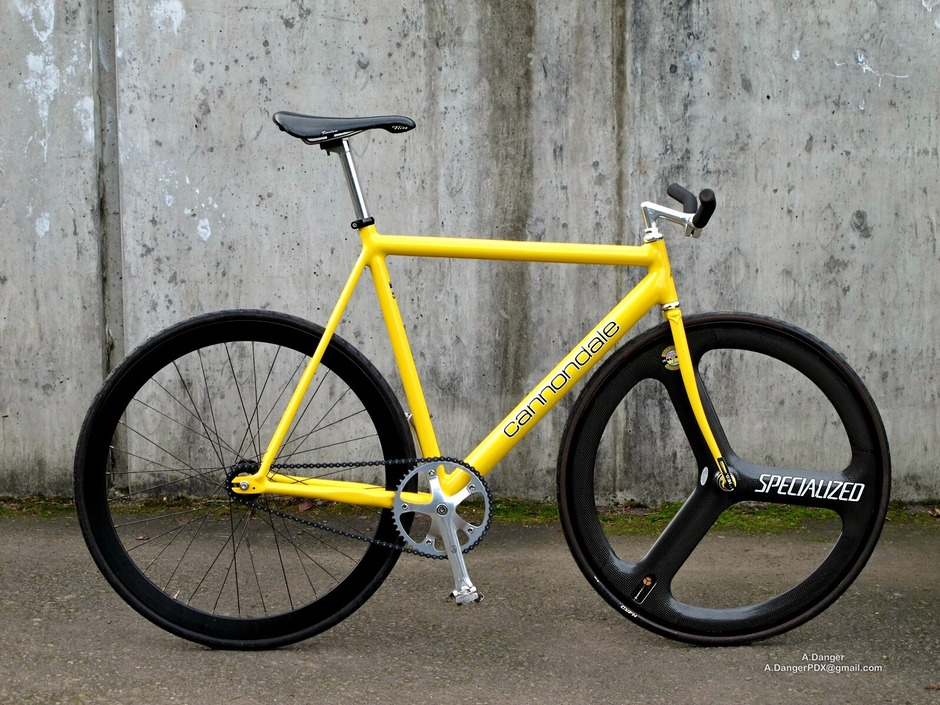 1993 Cannondale Track Yellow Sold Pedal Room