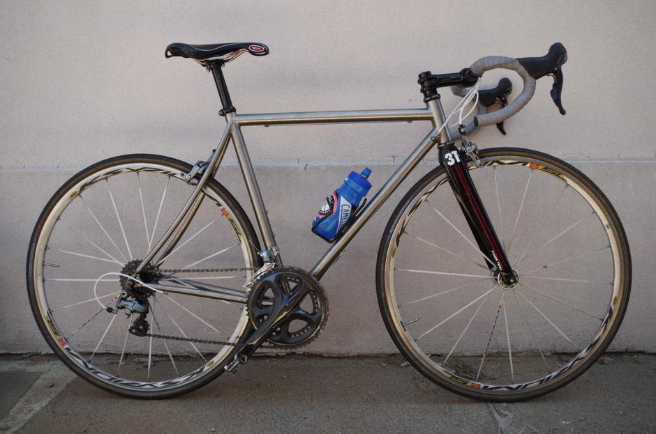 2004 Litespeed Titanium Road Bike Pedal Room