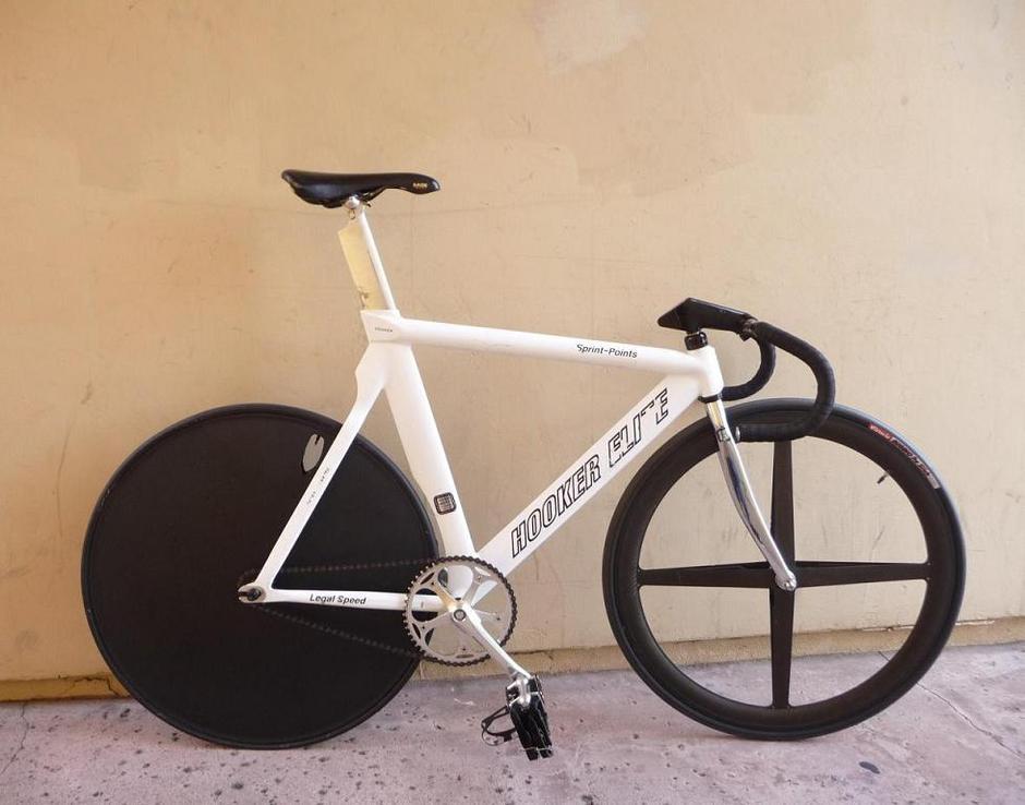 90 S Hooker Elite Pursuit Track Bike Pedal Room