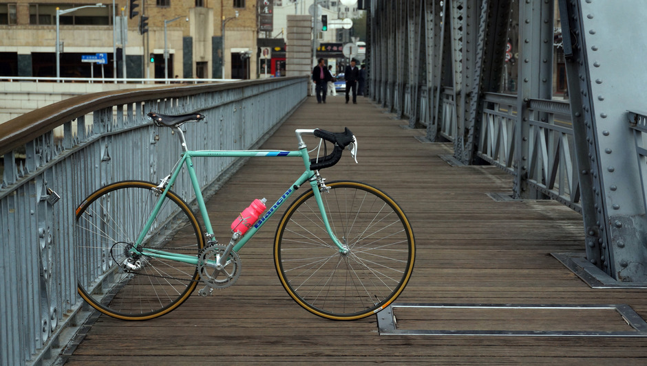 Bianchi 80s Rekord 841 Road Bike Pedal Room