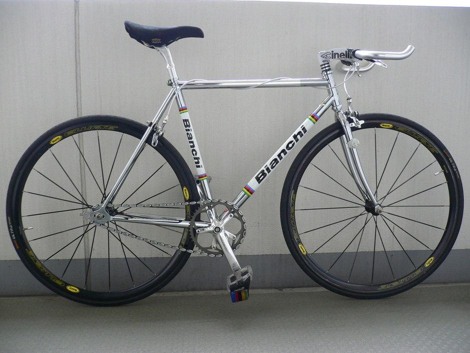 Bianchi Pista Chrome Pedal Room