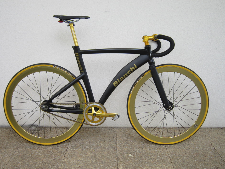 Black And Gold Fixie 2011 Custom Built Pedal Room