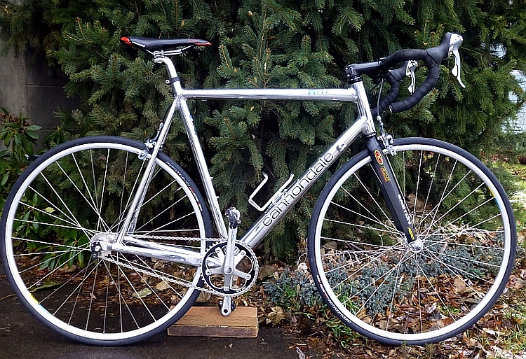 Cannondale R900 Fixed Gear Conversion Pedal Room