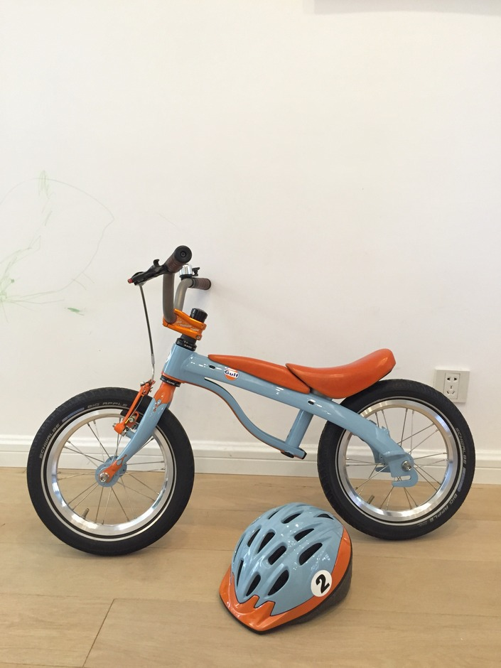 Custom Gulf Racing Kids Bike Pedal Room