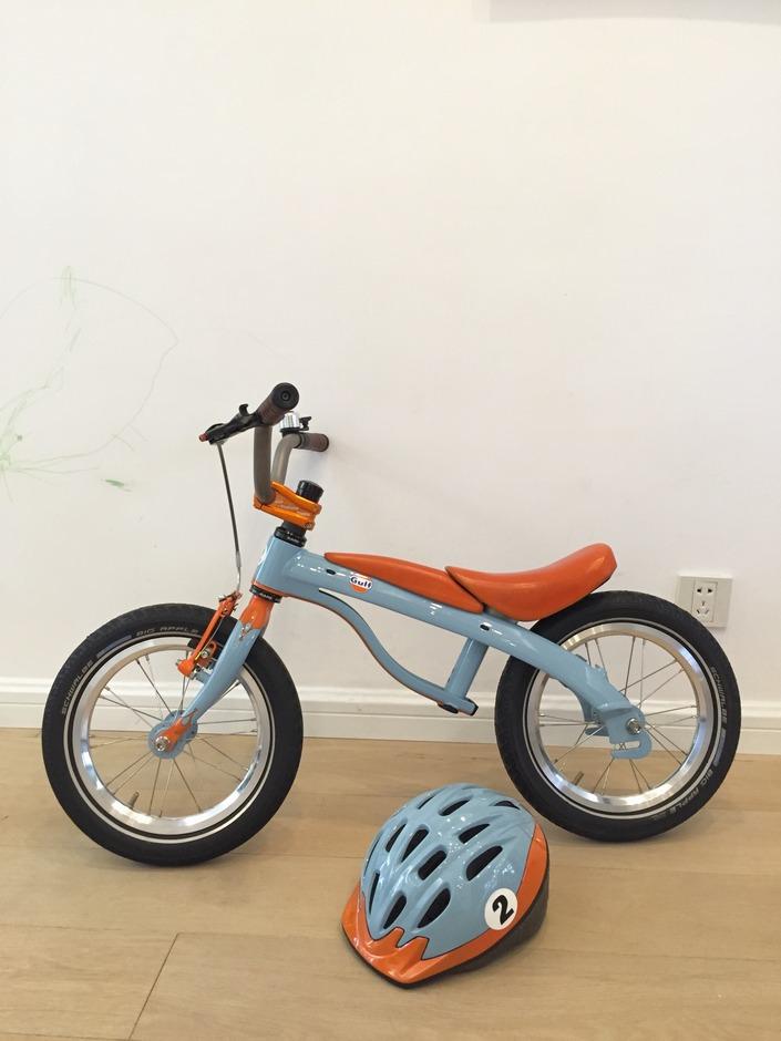 Custom Gulf Racing Kids Bike Pedal Room