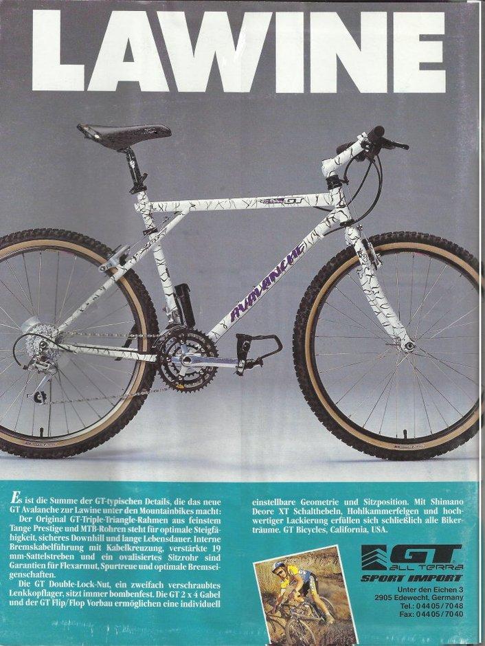 GT Avalanche 1991 Retro MTB - Pedal Room