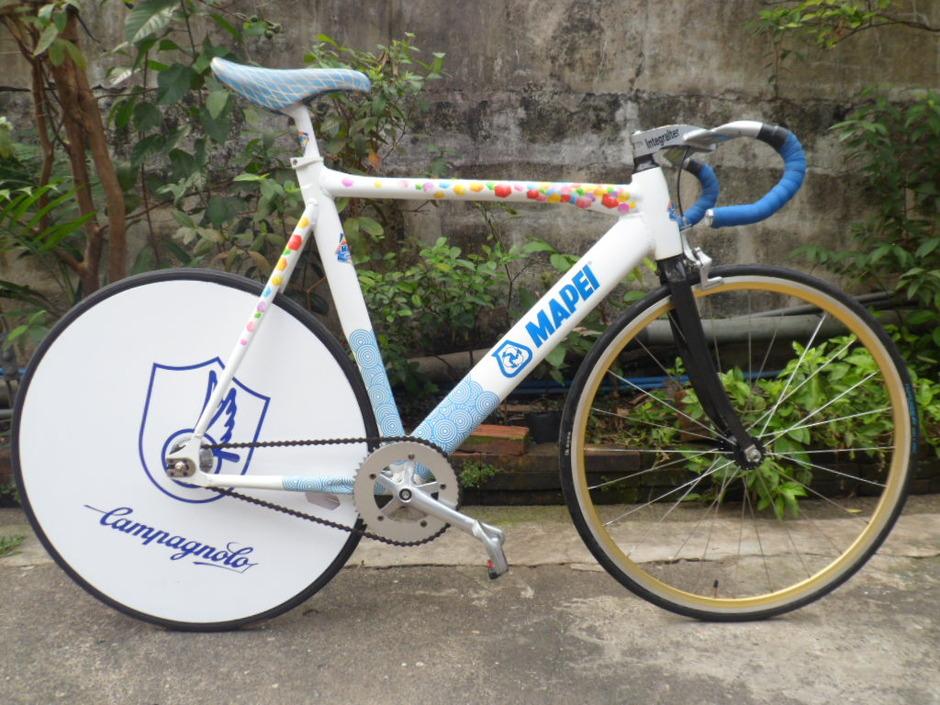 hgcolors aluminum mapei track bike