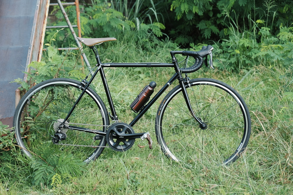 Vintage Touring Bike With Modern Derailleurs