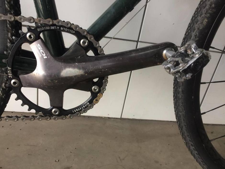Rapadura Custom Steel Gravel Bike Pedal Room