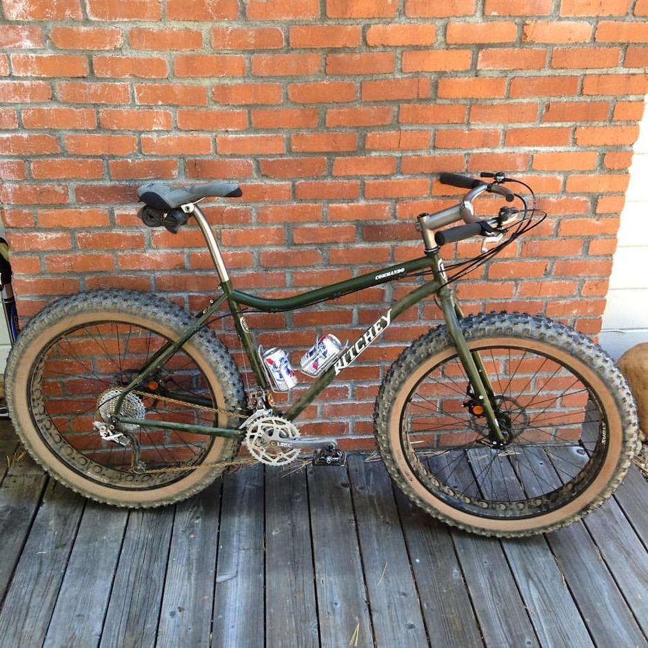 Ritchey Commando Fat Bike Pedal Room
