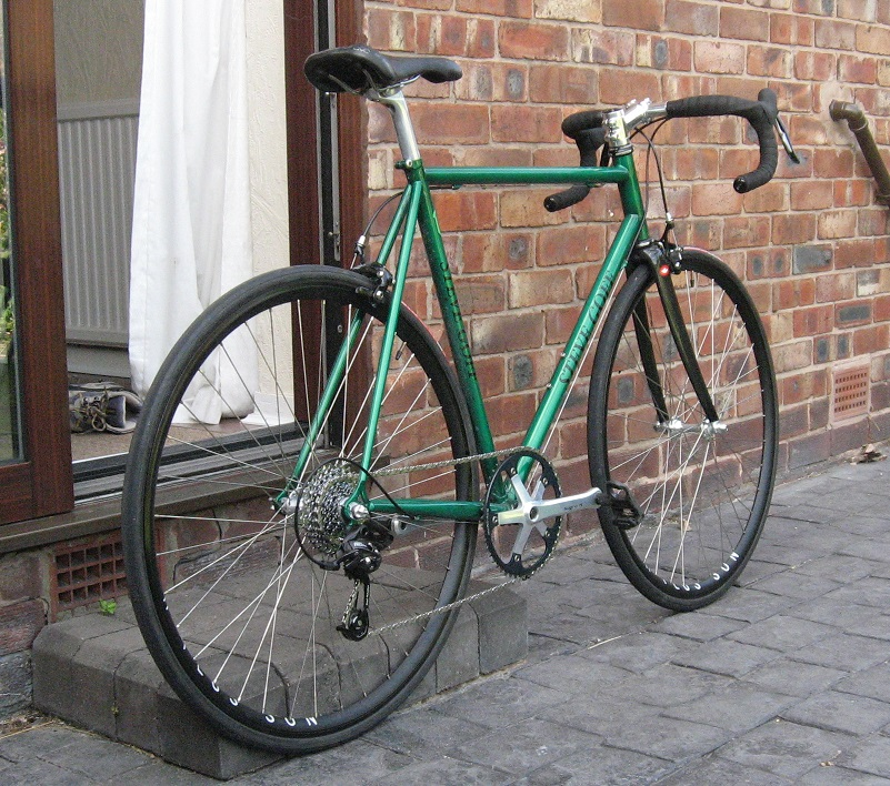 steel frame carbon fork road bike photo