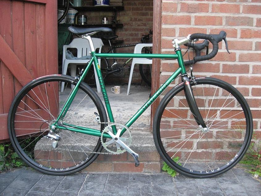 steel frame carbon fork road bike photo