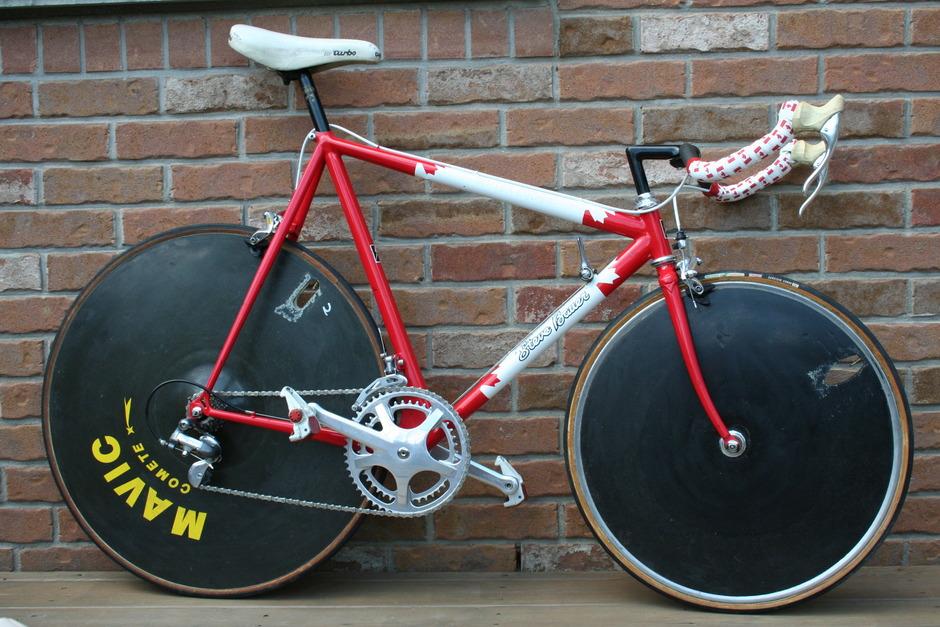Team Canada Steve Bauer Funny Bike Pedal Room