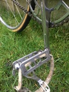 H E Green track bike 1940s photo