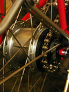 The Shimano hub which lets me have a nice clean look but still have lots of lovely gears!
